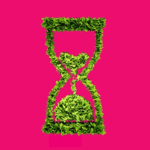 Time is running out concept with included clipping path.